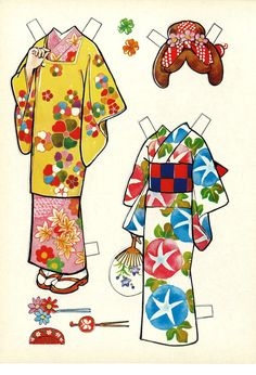 mzmew: I got 2 more Japanese paper doll books!... - TSM's Kimono yokubō