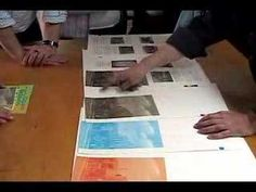 This video shows how the sequence of colours are applied in four-colour printing.