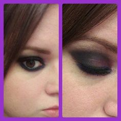 Concert Style: My over exaggerated purple and black smokey eye for the Fall Out boy save Rock N Roll Tour