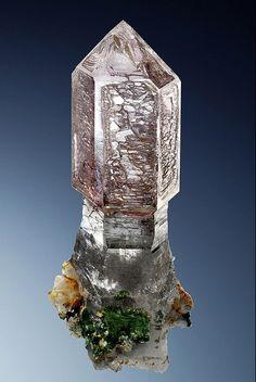 Quartz var.Amethyst Scepter - Saurüssel, Mörchner area, Zemmgrund, Zillertal, North Tyrol, Tyrol, Austria Size: 12.3 cm