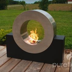 Pureflame Ring of Fire - Free Standing Ethanol Fireplace