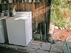 backyard gray/water system  -I would so do this if I didn't live in the marine air -everything that is left out, rusts.