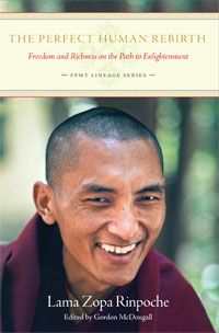NEW! Coming in November!  The third volume in the FPMT Lineage Series - Kyabje Lama Zopa Rinpoche's 'The Perfect Human Rebirth: Freedom and Richness on the Path to Enlightenment.'  The book is forthcoming in November 2013. If you are a Member, you will automatically receive the book for free; otherwise, you can order it from our website when the book becomes available.  http://www.lamayeshe.com/shorty/FPMT-Lineage-Series/PHR/