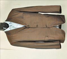 $55.00 #1960's #MensBlazer 42 XLong Jacket Mad Men Style #Sharkskin Bronze Brown Skinny Lapel Retro Sportcoat Mid Century Modern by ArmorOfModernMen on Etsy