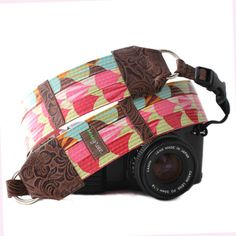 simply lovely, laminated cotton camera strap.
