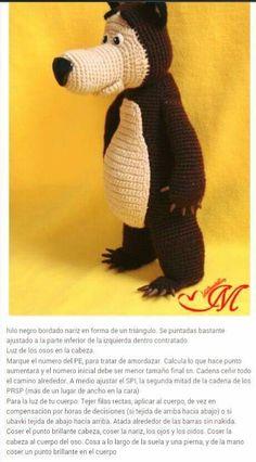 Amigurumi Doll, Amigurumi Patterns, Crochet Patterns, Crochet Disney, Knitted Dolls, Crochet Dolls, Crochet Bear, Free Crochet, Turkish Pattern