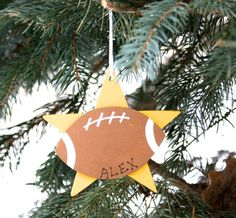FOOTBALL Personalized Ornament. Sport by CutiePieKidsNames on Etsy
