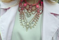 :: ombre :: crystal necklace