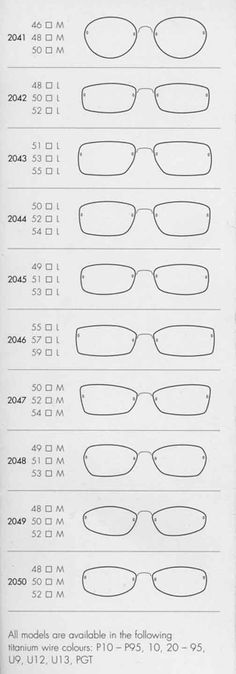 Lindberg Spirit - shapes/sizes 2041-2050
