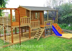 wow now thats a backyard dream for a kid!!!!!!!!!!!!!!!!!!!!Panda Pack Kids Gym Cubbyhouse - I love this website.