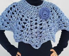 Capa Poncho Poncho de encaje Crochet capucha capa de