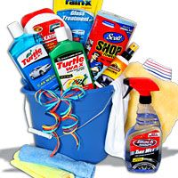 Car Wash Gift Basket- for the new car owner (hopefully will get this for kids when they get their first car!)