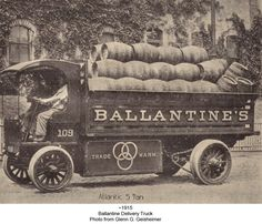 P. Ballantine & Sons.  Just bought myself one of these old keg barrels....I'm so excited....now to find an old Budweiser wood barrel