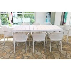 Nardi Net 9 Piece Dining Setting with Rio 140cm Extendable Table