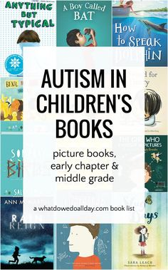 Children's books that feature protagonists and other characters with autism. The book list includes picture books through middle grade books and characters have a wide range of autism spectrum experiences. Autism Activities, Autism Resources, Book Activities, Sequencing Activities, Counseling Activities, School Counseling, Autistic Children, Children With Autism, Read Aloud Books