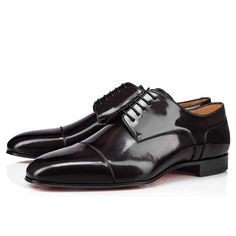 S Signature, Brown Flats, Red Sole, Derby Shoes, Formal Shoes, Calves, Men's Shoes, Christian Louboutin, Oxford Shoes
