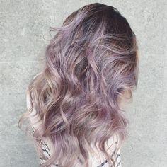 smoky lilac hair color