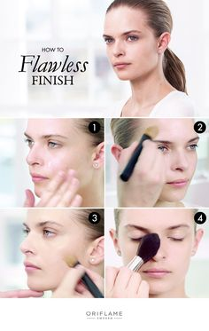 A flawless complexion is one of the first steps towards looking your best, and in this exclusive Oriflame how-to, we show you how to apply base, foundation and pressed powder, saying goodbye to any imperfections and saying hello to smooth, glowing skin!