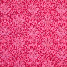 sophisticated, passionate - Damask Pink fabric