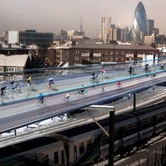 13 projects that could change the face of London: Norman Foster cycling utopia above London railways