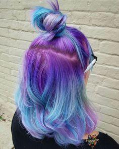 Hermosa combinación de azul y violeta!!