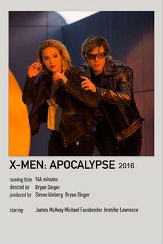 Marvel Movie Posters, Old Movie Posters, Film Posters, Poster Marvel, Marvel Movies, James Mcavoy Michael Fassbender, Xmen Apocalypse, Bryan Singer, Movie Prints