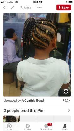Little Black girls' 40 Braided Hairstyles – New Natural Hairstyles Lil Girl Hairstyles, Black Girl Braided Hairstyles, Black Kids Hairstyles, Box Braids Hairstyles, Trending Hairstyles, Toddler Hairstyles, Teenage Hairstyles, Hairstyle Ideas, Hair Ideas
