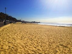 Bournemouth's sandy beach