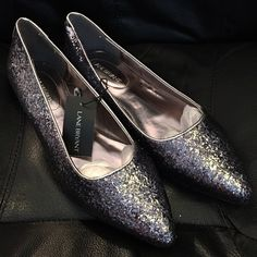 Lane Bryant glitter sparkle flats Everyday glam and easy-wearing comfort? These glitter flat does will do the trick! Wide widths with a streamlined pointed toe. Synthetic Lane Bryant Shoes Flats & Loafers