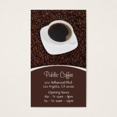 Coffee Shop Business Cards & Templates | Zazzle
