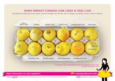 "An image has recently gone viral, of 12 lemons in an egg carton. It is part of the ""Know Your Lemons"" campaign, which is aimed at fighting breast cancer. Led by the Worldwide Breast Cancer organisation for Breast Cancer Survivor, Breast Cancer Awareness, Menopause, Know Your Lemons, Orange Peel Skin, Cancer Fighting Foods, Awareness Campaign, The Cure, 12 Signs"