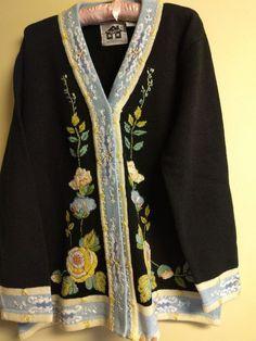 NWT Storybook Knits 1X Soft Roses cardigan sweater #StorybookKnits #Cardigan #Casual