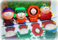 Polymer Clay South Park Fridge Magnet Set of by AnellHappyPolyClay