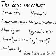 There snapchat names :) @sumaiyahahmed53