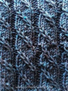 Twisted Trill Knitting Stitch with FREE Pattern Link - Yarn : Want to learn a challenging stitch pattern that will make your next knitting project your most stunning yet? Check out the twisted trill stitch Knitting Stiches, Knitting Charts, Loom Knitting, Free Knitting, Crochet Stitches, Vintage Knitting, Knitting Toys, Knitting Machine, Knitting Needles