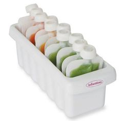 Infantino Freezer Sleeves are super handy for organizing your pouches.