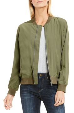 Absolutely loving this trendy bomber jacket that will be perfect for layering.