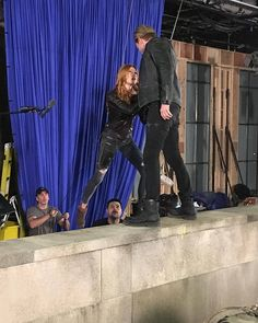 Kat and Dom BTS of 3x07
