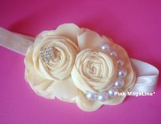 flower headband, diy headband, baby headband, wedding headband, flower girl headband