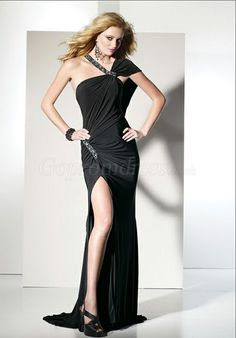 Side Draping Prom Dress