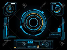 Illustration about Futuristic blue virtual graphic touch user interface HUD. Illustration of smart, modern, electronic - 40786422 Game Interface, User Interface Design, Dashboard Design, Ui Design, Game Design, Graphic Design, Overlays, Mood And Tone, Modelos 3d