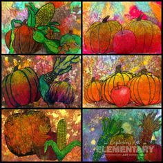 Exploring Art: Elementary Art: Rounding out Autumn Lessons These are amazing!