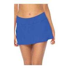 Women's Sunsets Sporty Swim Skirt - Imperial Blue Bikini Bottoms Swim Skirt, Swim Dress, Blue Bikini Bottoms, Beach Day, Sunsets, Bikinis, Swimwear, Mini Skirts, Swimming