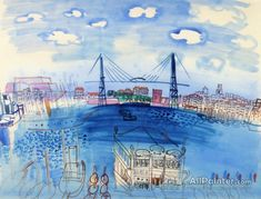Raoul Dufy,View Of The Port Of Marseille oil painting reproductions for sale