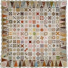 Quilt - Dear Jane Civil War Era Quilt made by Jane A. Blakely Stickle