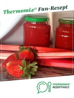 Strawberry and rhubarb jam from A Thermomix ® recipe from the Sauces / Dips / Spreads category www.de, the Thermomix® Community. Desserts For A Crowd, Healthy Dessert Recipes, Healthy Eating Tips, Healthy Nutrition, Healthy Food, Marmelade Recipe, Strawberry Rhubarb Jam, Dessert Sauces, Vegetable Drinks