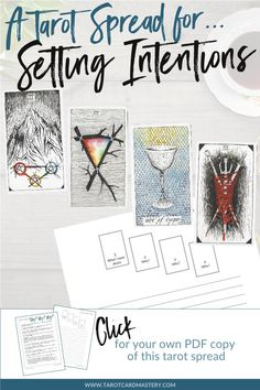 Get this free, PDF printable tarot spread from www.TarotCardMastery.com to use for your tarot journal and for personal development. The tarot cards shown are from The Wild Unknown Tarot Deck available at www.thewildunknown.com. #thewildunknown #tarotcardmastery