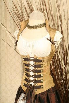 Pirate or Steampunk Corset I would totally rock this for a costume party Costume Steampunk, Mode Steampunk, Victorian Steampunk, Steampunk Clothing, Steampunk Fashion, Gothic Fashion, Steampunk Corset, Style Fashion, Steampunk Necklace