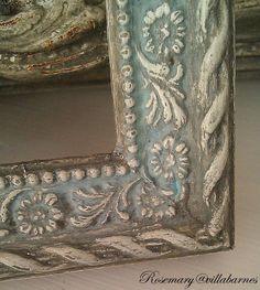 villabarnes: Finishes I Love--Gorgeous! Chalk Paint Mirror, Chalk Paint Colors, Mirror Painting, Diy Painting, Painting Frames, Annie Sloan Chalk Paint, Paint Mirror Frames, Painted Mirrors, Furniture Fix