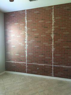 brick wall seams filled Cypress Pine, Brick Wall, Room, Furniture, Home Decor, Bedroom, Decoration Home, Room Decor, Brick Walls